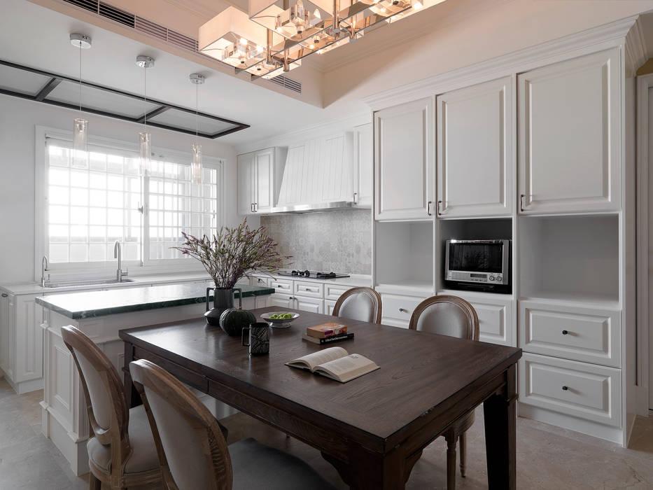 Cocinas de estilo ecléctico de 賀澤室內設計 HOZO_interior_design Ecléctico