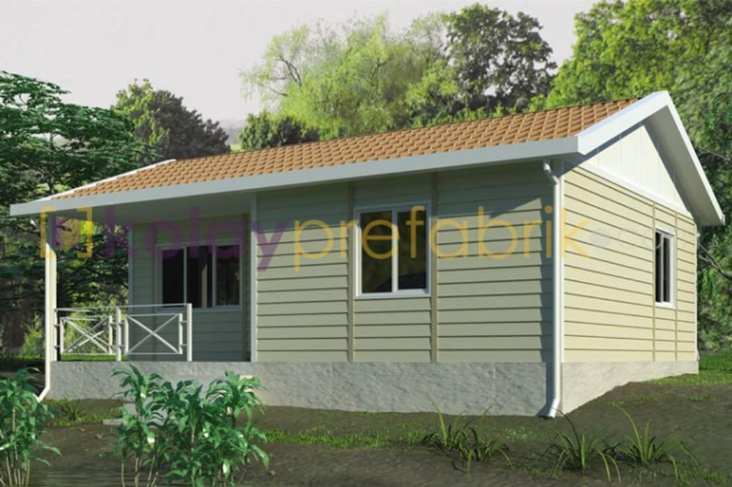 TEK KATLI PREFABRİK EV 58 m2 (2+1) Dış Cephe Betopan Yalı Baskı Kaplama Klasik Evler Kolay Prefabrik Evler Klasik