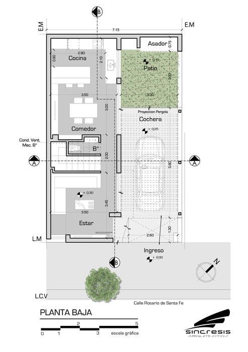 Vivienda AS2 : Casas de estilo  por síncresis arquitectos