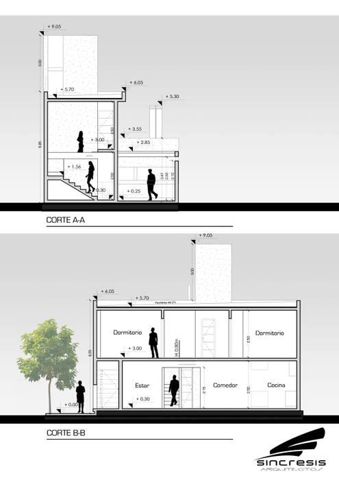 Vivienda AS2 Casas minimalistas de homify Minimalista