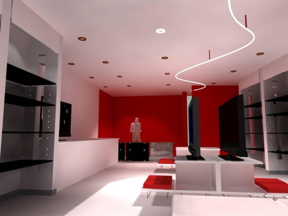 Interior Punto de Venta: Centros Comerciales de estilo  por Ignacio Montero