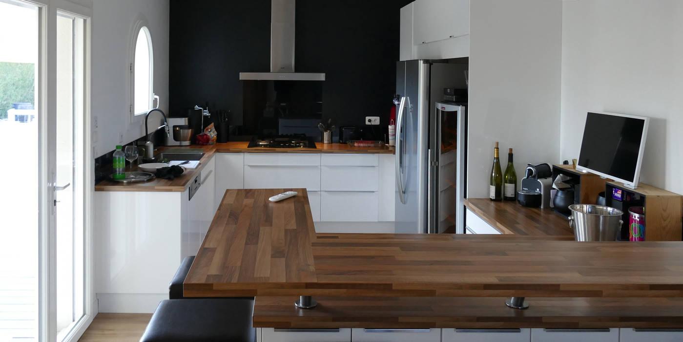 maison m.f: cuisine de style par ophélie dohy architecte d'intérieur
