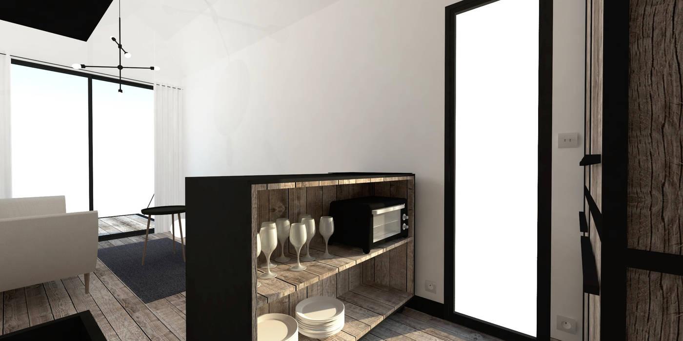 tiny house: cuisine de style par ophélie dohy architecte d'intérieur