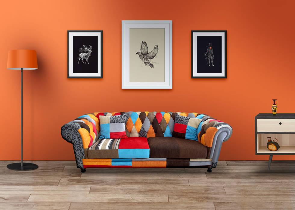 Cuadros decorativos modernos para casa u oficina paredes y pisos de estilo por crafted mx homify - Cuadros estilo moderno ...