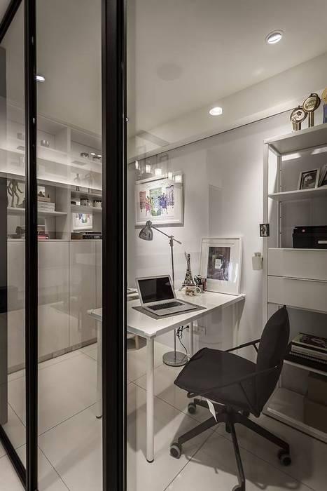 透視隔間:  書房/辦公室 by 你你空間設計