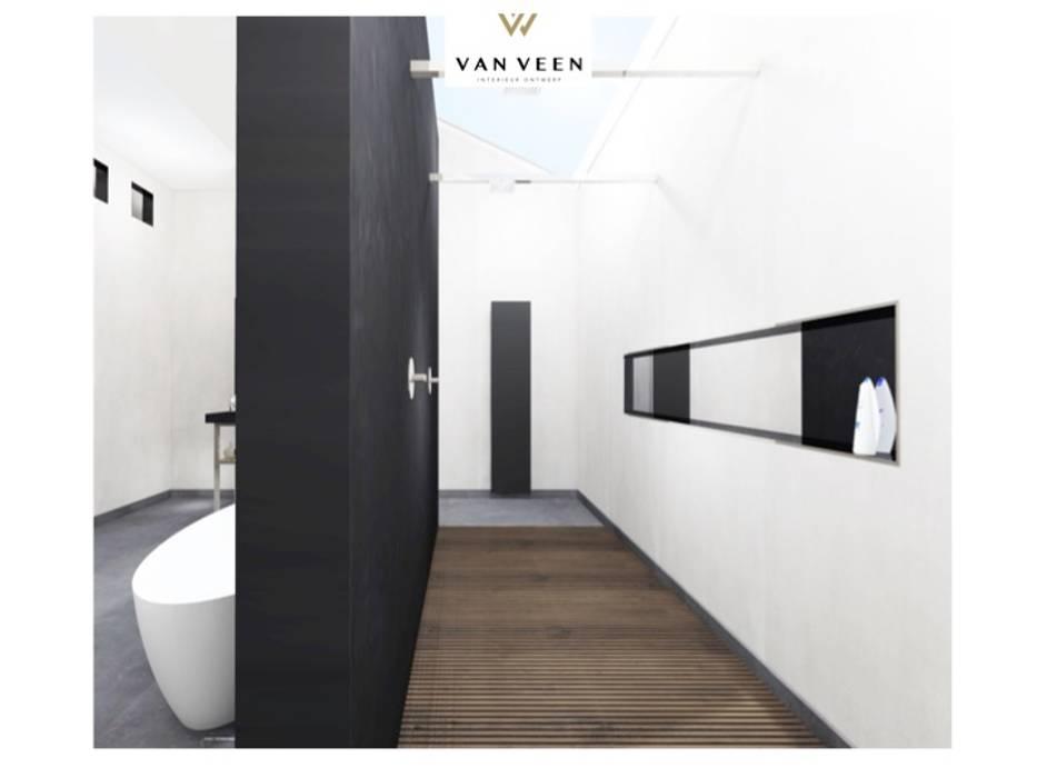 Ruime luxe badkamer: moderne badkamer door van veen interior design ...