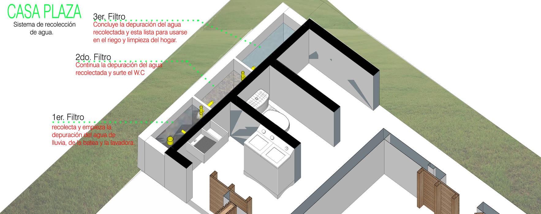 Recolección y reutilización de aguas: Casas de estilo  por Taller de Desarrollo Urbano