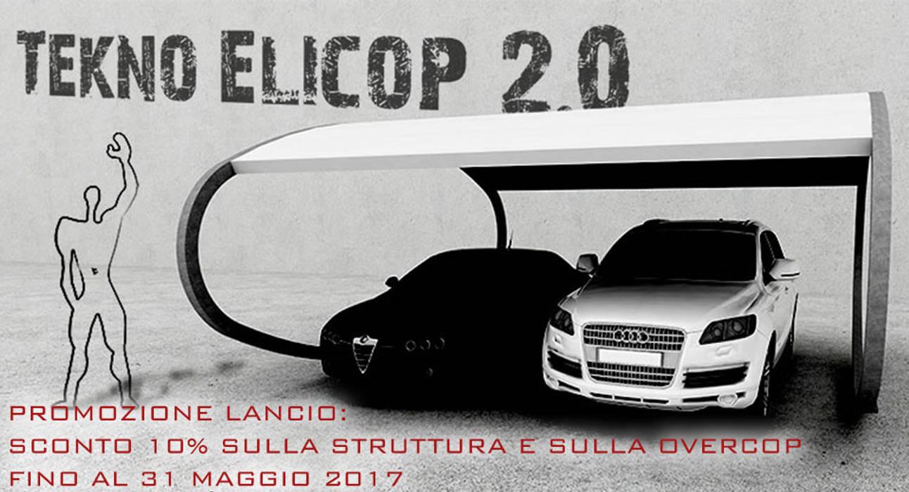 TEKNO ELICOP 2.0 Tettoia - Copertura per Auto e Giardino | metallica, modulare, personalizzabile: Garage/Rimessa in stile in stile Moderno di RMG Project Studio