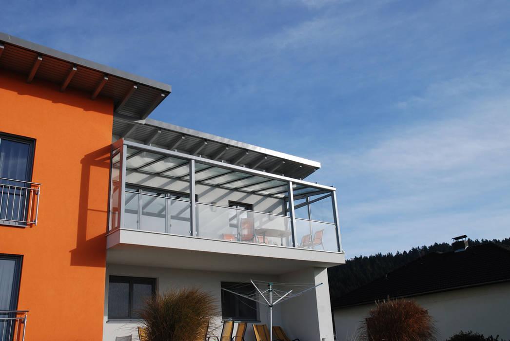 Balkonüberdachung aus glas und aluminium: wintergarten von ...