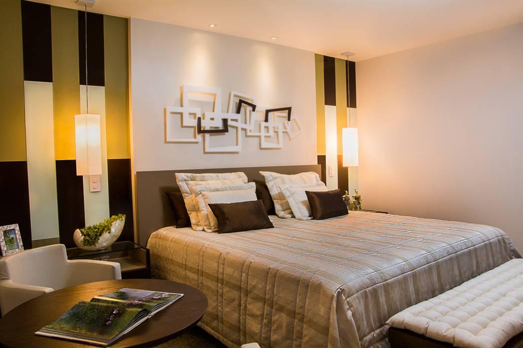 Brasilia Design de Interiores ห้องนอน Beige
