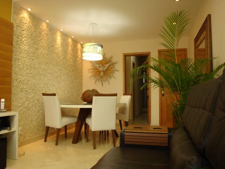 Sala de Jantar Debiaze Arquitetura Salas de jantar modernas Mármore Bege