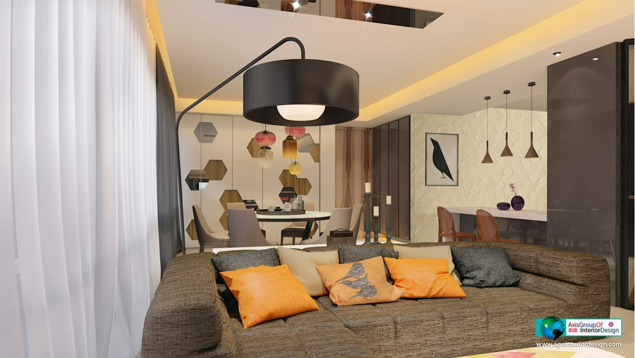 Living room by Axis Group Of Interior Design