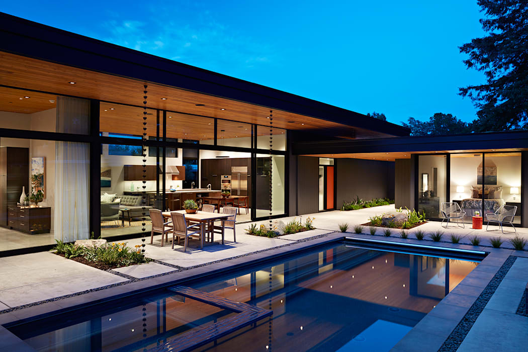 Glass Wall House Modern Houses by Klopf Architecture Modern