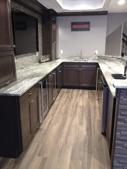Basking Ridge Basement Bar!: classic Wine cellar by Kitchen Krafter Design/Remodel Showroom