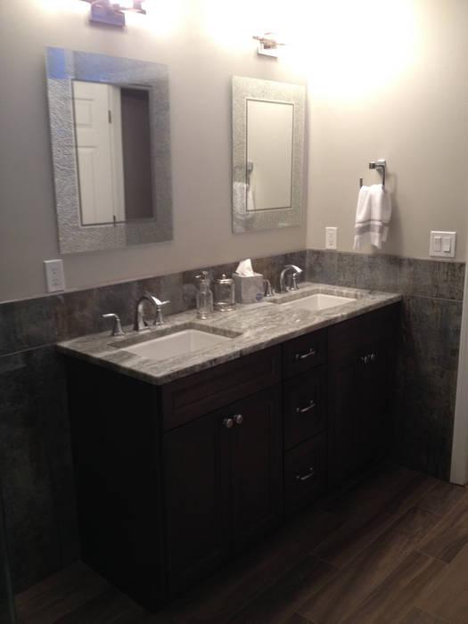 Basking Ridge Basement Bar:  Bathroom by Kitchen Krafter Design/Remodel Showroom