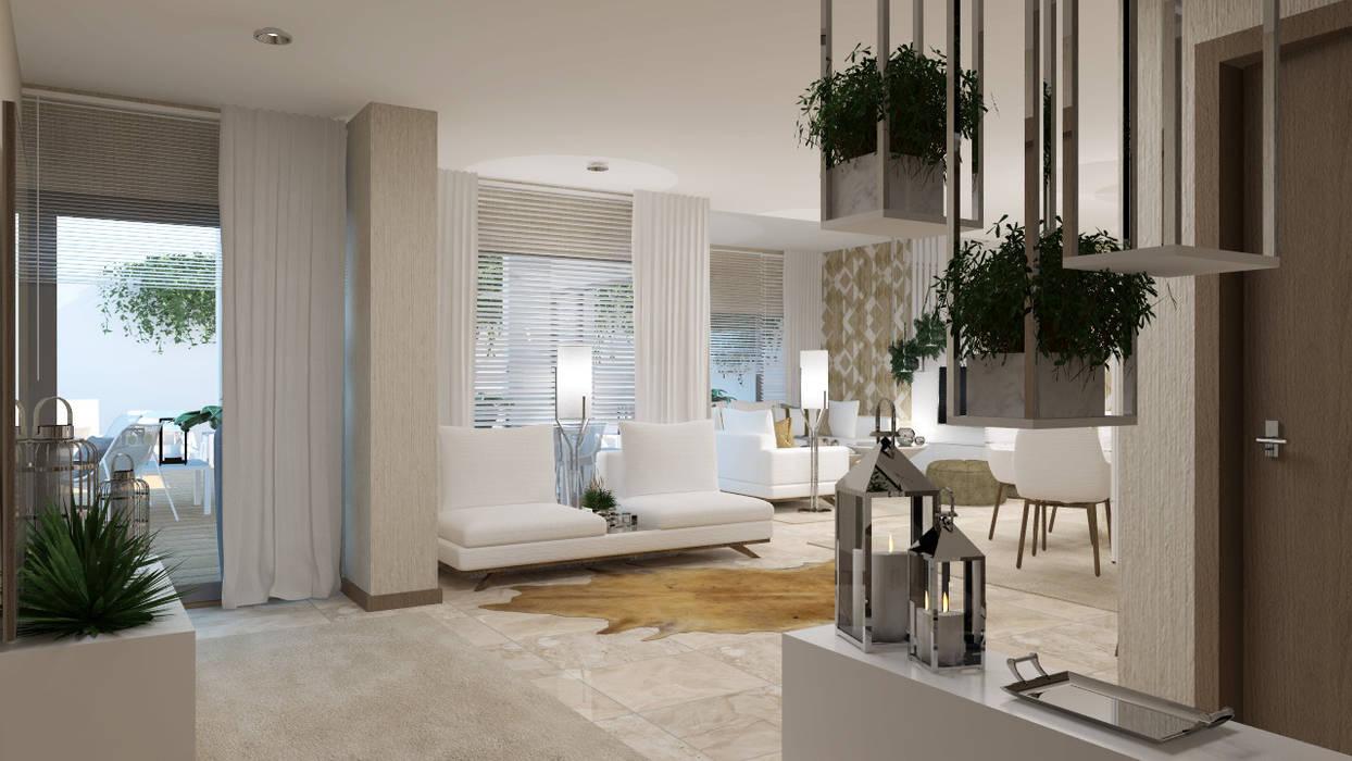 Moderner Flur, Diele & Treppenhaus von 4Ponto7 Modern