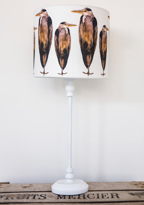 Herons ( Colour) Lampshade: country Living room by Lomas & Lomas