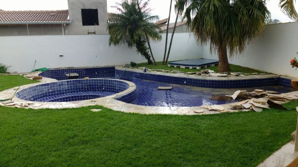 Piscina Pequena Alvenaria Piscinas tropicais por homify Tropical