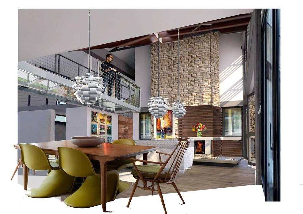 Tredenham interior, Bloemfontein, South Africa:  Living room by Sm!t Architects