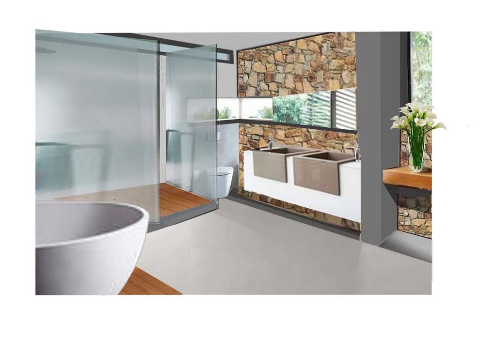 House Tredenham, Bloemfontein, South Africa:  Bathroom by Sm!t Architects