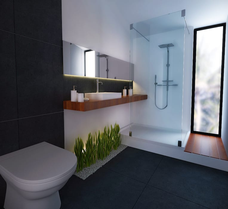 6.- CASA JALISCO Moderne Badezimmer von TARE arquitectos Modern