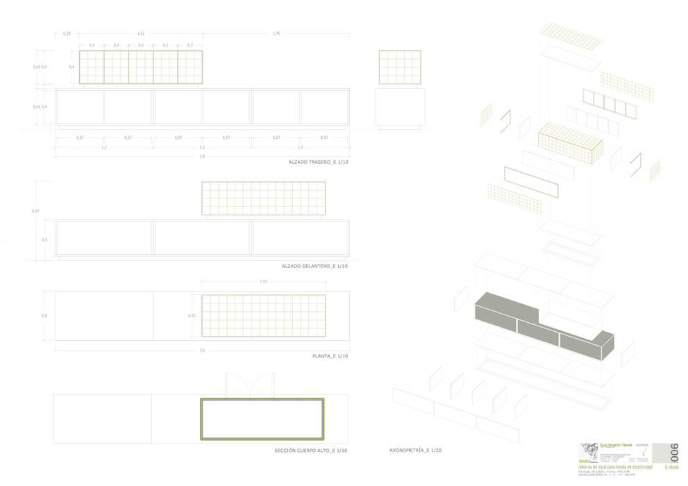 Tienda de electricidad, Lapa Abedul arquitectura Oficinas y tiendas de estilo minimalista