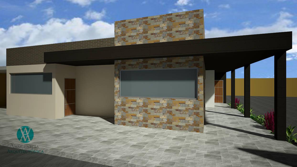 Casa camprestre Unifamiliar Casas de estilo rústico de Vanguardia Arquitectónica Rústico