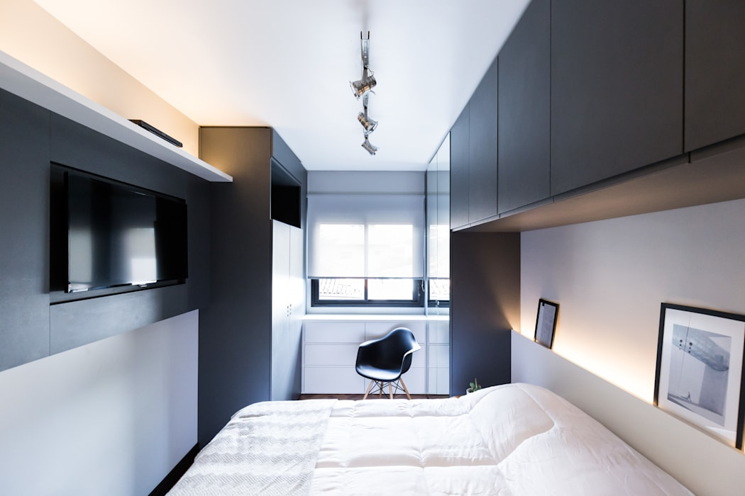 Industrial style bedroom by K+S arquitetos associados Industrial