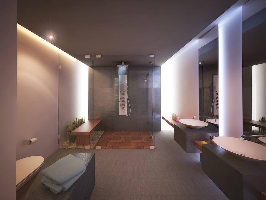 9. CASA F6 Moderne Badezimmer von TARE arquitectos Modern