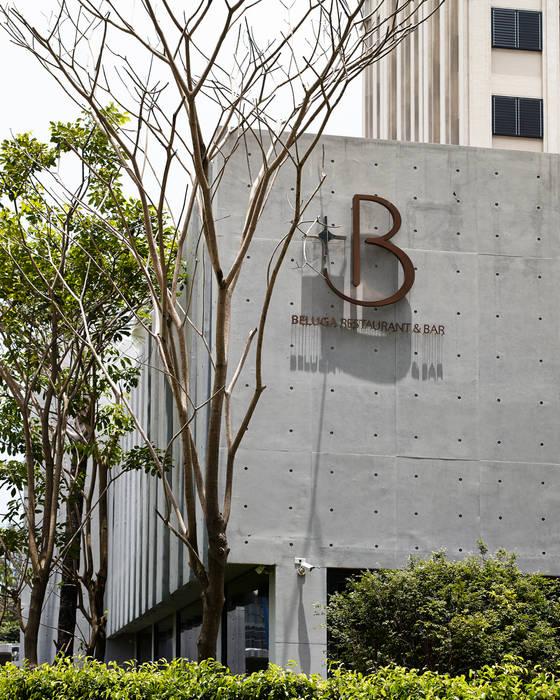 Beluga Restaurant& Bar 建築外觀 根據 原形空間設計 現代風 水泥