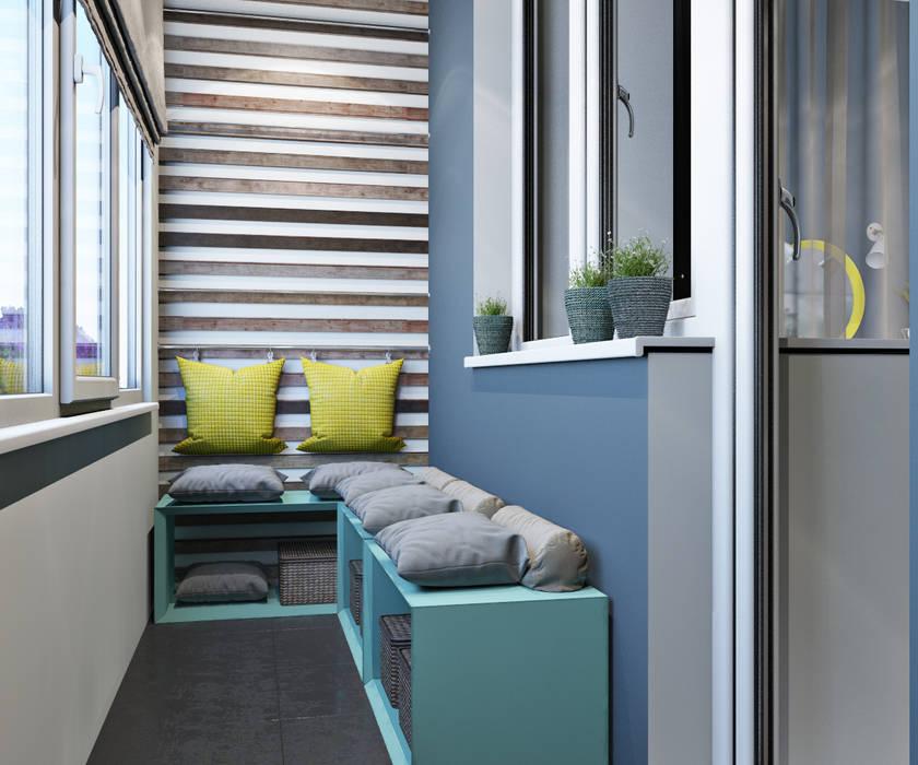 Scandinavian style balcony, veranda & terrace by OBJECT Scandinavian