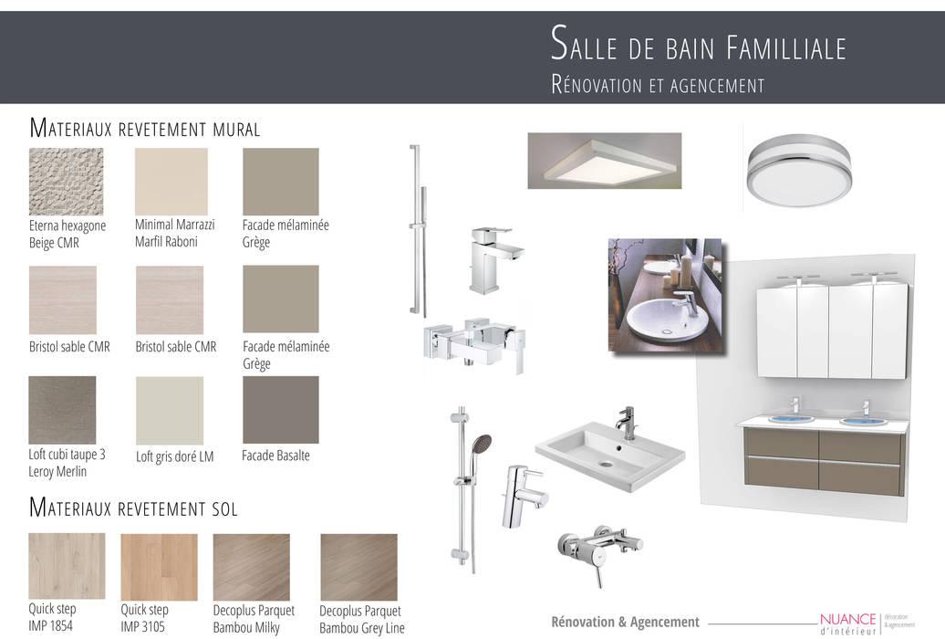 Appartement La Garenne-Colombes: Salle de bains de style  par Nuance d'intérieur