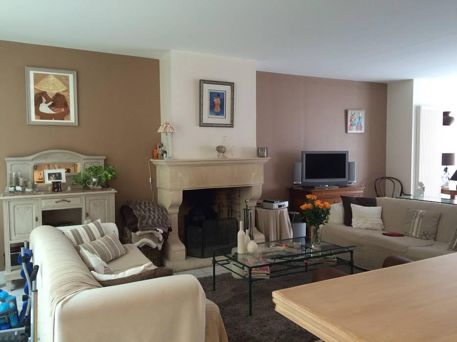 Appartement à Sartrouville: Salon de style de style Moderne par Nuance d'intérieur