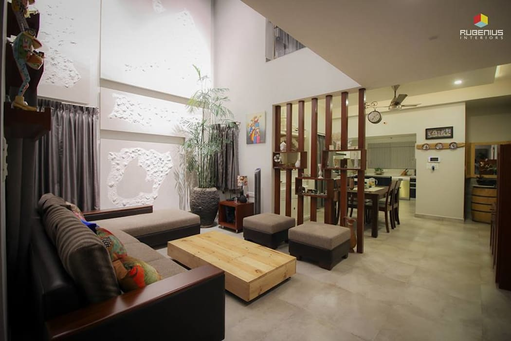 LIVING AREA:  Living room by Rubenius Interiors