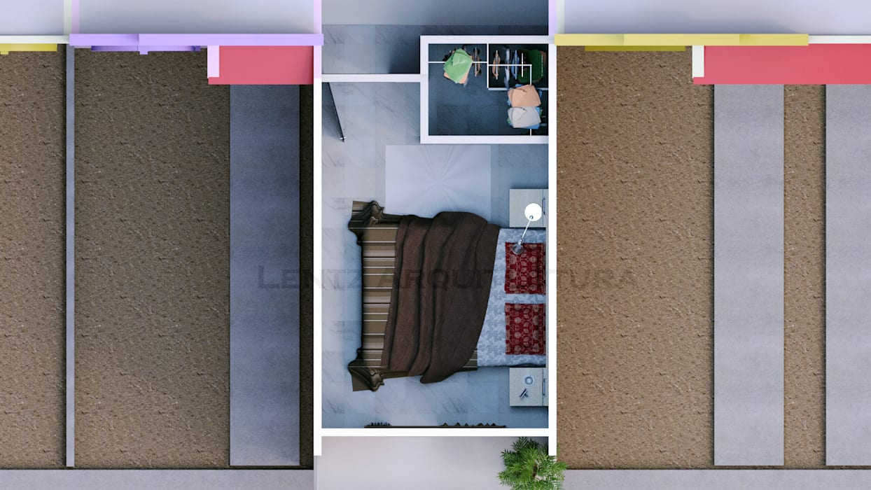 Vista Aérea Interior: Casas de estilo moderno por Lentz Arquitectura Diseño y Construcción