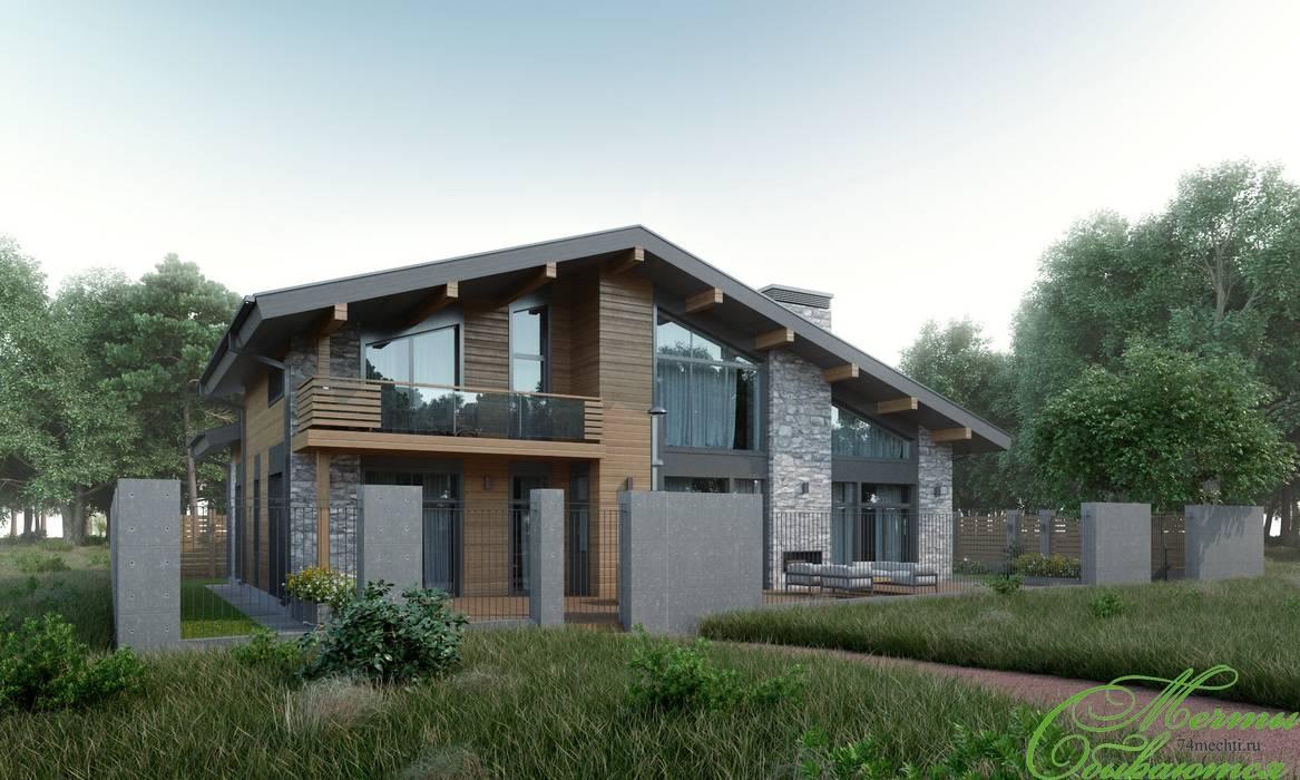 Частный дом в Зеленограде: Дома в . Автор – Компания архитекторов Латышевых 'Мечты сбываются'