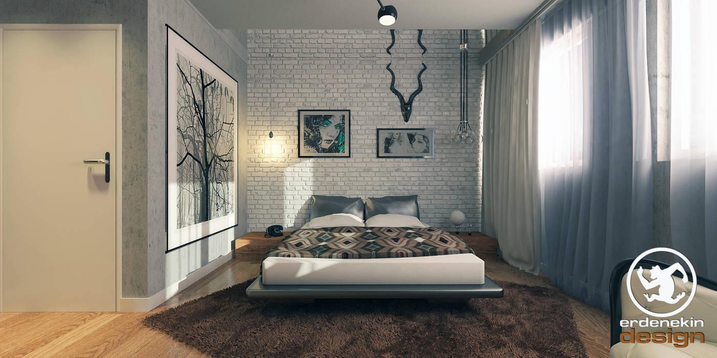 Erden Ekin Design – Yatak Odası:  tarz Yatak Odası