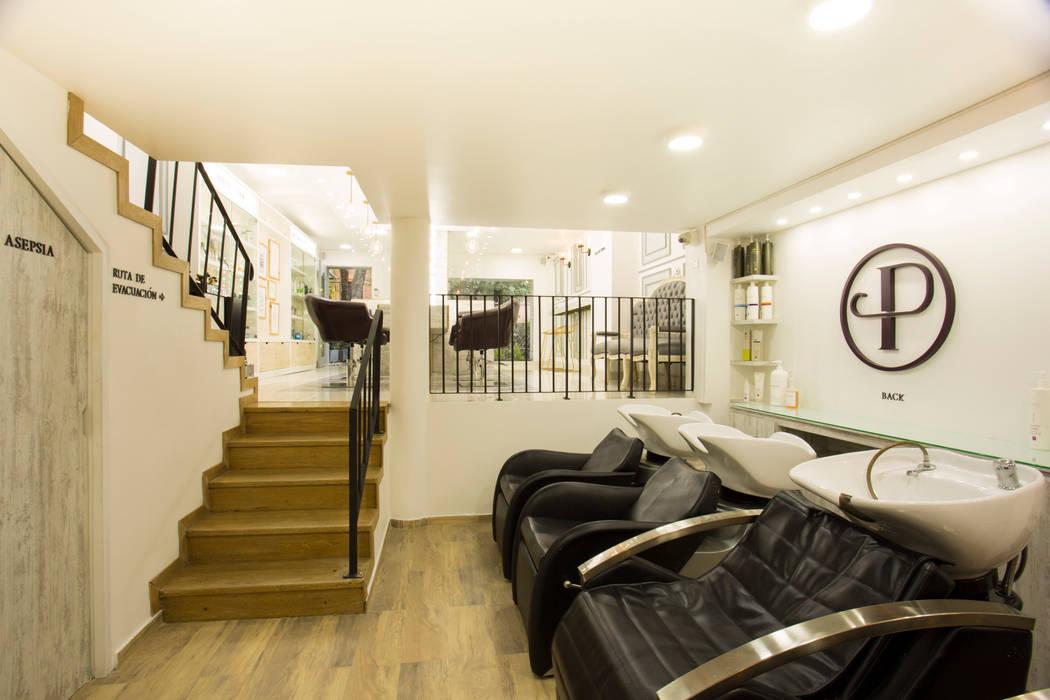 PRAGA SALÓN: Espacios comerciales de estilo  por @tresarquitectos