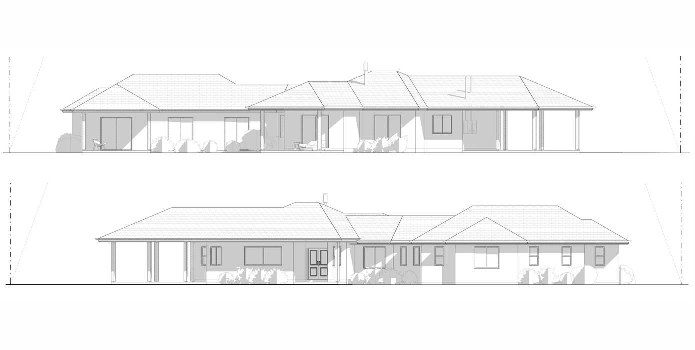 Casa Las Palmeras de Lonquén Casas de estilo colonial de AtelierStudio Colonial
