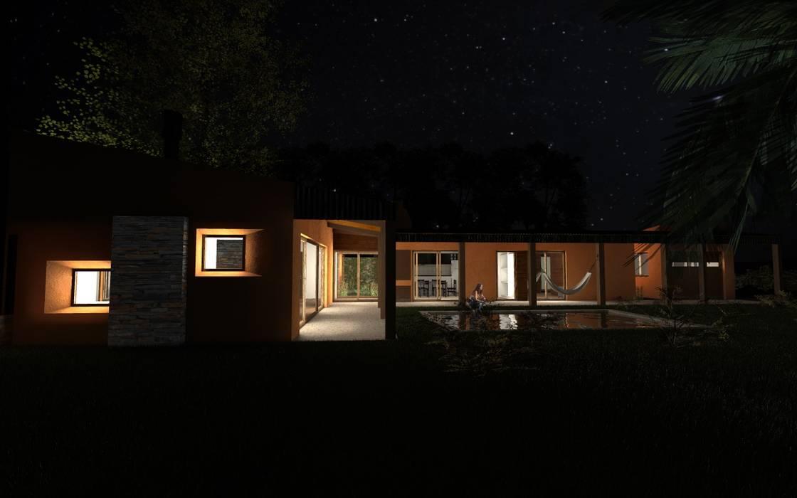 Propuesta Lateral Nocturna: Casas de estilo  por JIEarq