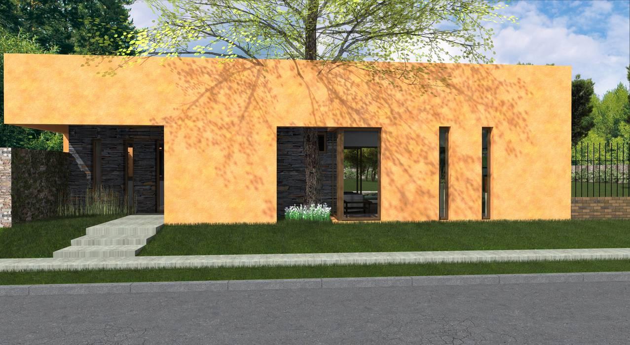 Propuesta Frente Casas modernas: Ideas, imágenes y decoración de JIEarq Moderno