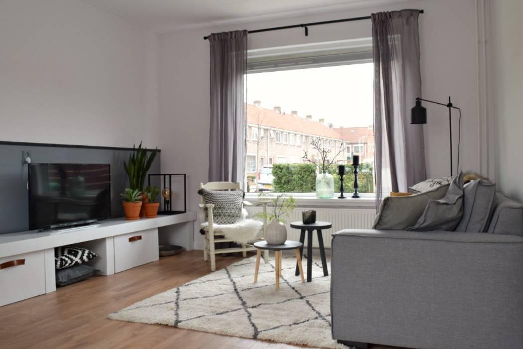 Ontwerp tv-programma \'alles over wonen\': industriële woonkamer door ...