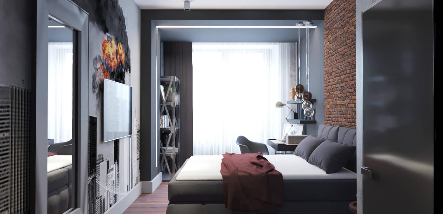 Industrial style bedroom by EEDS дизайн студия Евгении Ермолаевой Industrial