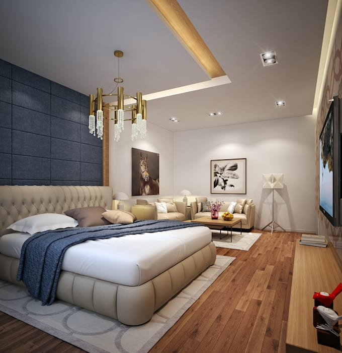 Modern Bedroom:  غرفة نوم تنفيذ Accurate Curves