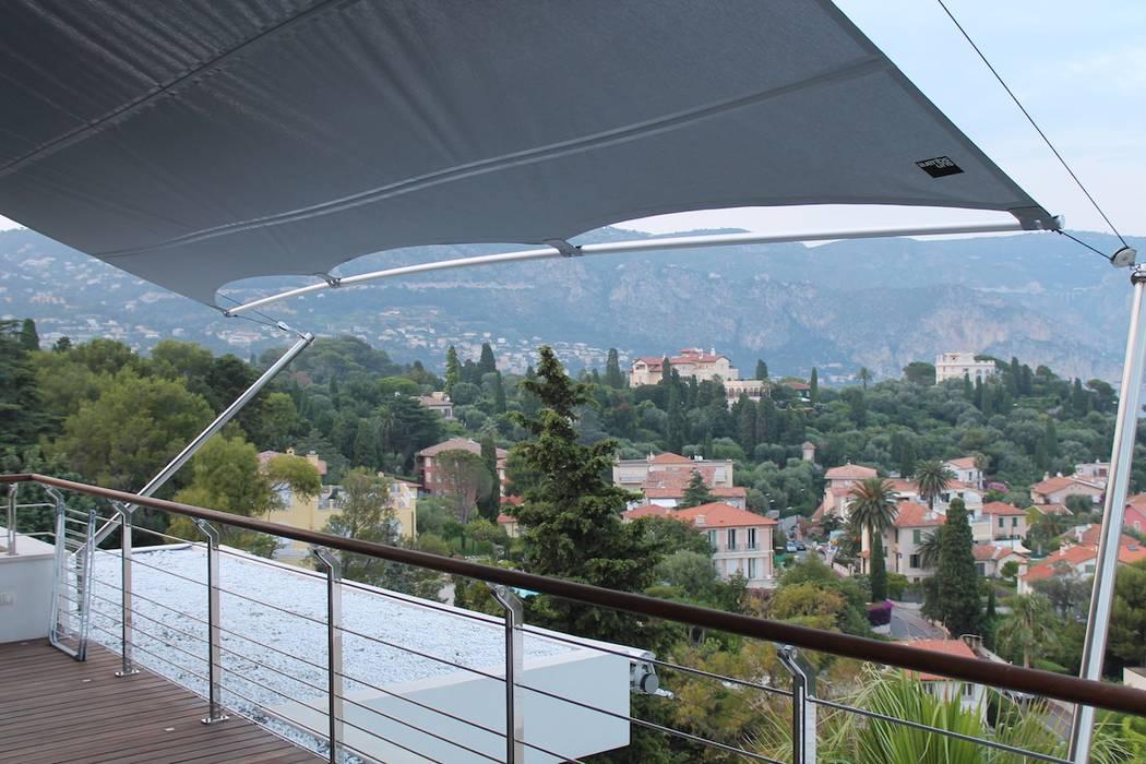 Couverture Terrasse - Voile Rectangulaire Sunsquare: Terrasse de style  par Artesun Gbr