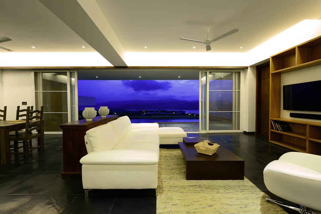 11 K-Waks Modern living room by Studio K-7 Designs Pvt. Ltd Modern Wood Wood effect