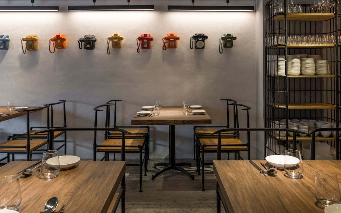 Restaurants de style  par 齊禾設計有限公司