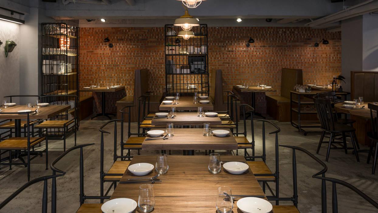 Restaurantes de estilo  por 齊禾設計有限公司, Industrial