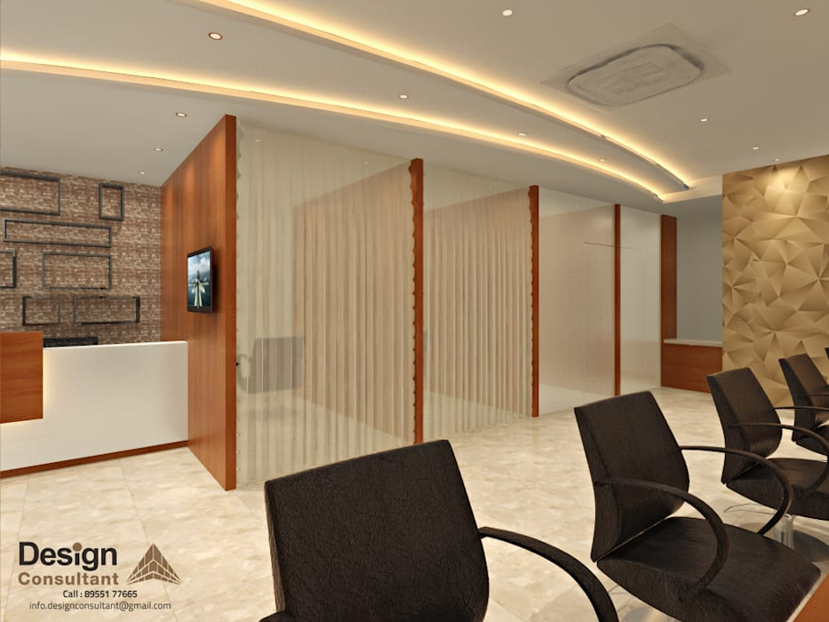 The Glam Salon Makeup Room Design:  Commercial Spaces by Design Consultant