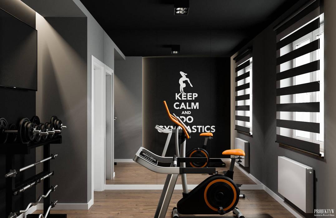 Gym by PRØJEKTYW | Architektura Wnętrz & Design, Scandinavian
